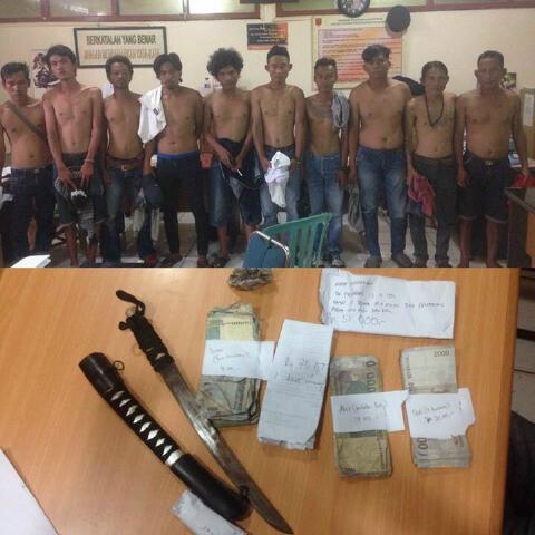 9 TSK Dan Barang Bukti Diamankan Di Polresta Palembang ...